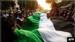 Акция в поддержку сирийской оппозиции в Каире, перед зданием штаб-квартиры Лиги арабских государств. 2 ноября 2011г.