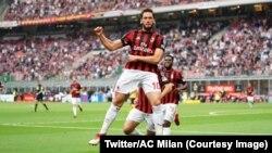 L'AC Milan a battu le Hellas Vérone (4-1) au stade San Siro, Italie, 5 mai 2018. (Twitter/AC Milan)