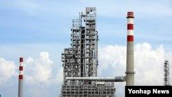 중국 후이저우시 석유화학 개발구에 위치한 석유화학 공장 전경(자료사진)