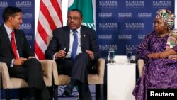 USAID Administrator Rajiv Shah, Prime Minister of Ethiopia Hailemariam Desalegn and African Union Commission Chairperson