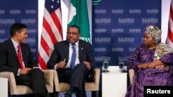 U.S. Agency for International Development Administrator Rajiv Shah, Prime Minister of Ethiopia Hailemariam Desalegn. (File)