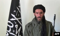 An undated photo obtained by ANI Mauritanian news agency reportedly shows former Al-Qaida in the Islamic Maghreb (AQIM) emir Mokhtar Belmokhtar speaking at an undisclosed location.