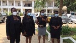Mulheres são-tomenses vestem-se de preto contra violência doméstica e o abuso sexual de menores