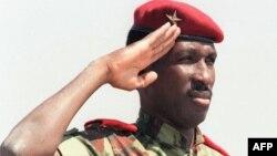 Thomas Sankara à Ouagadougou, au Burkina Faso, le 15 octobre 2007.