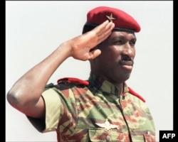 Thomas Sankara em Ouagadougou, Burkina Faso