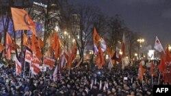 Митинг на Пушкинской площади в Москве 5 марта 2012 г.