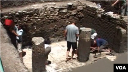Archaelogical excavations in Albania