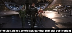 """A scene from the blockbuster """"Black Panther,"""" which accounted for 23 percent of the ticket sales in the first three months of the year."""