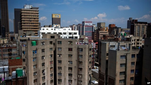 FILE - General view of buildings in the Central Business District of Johannesburg, March 3, 2010.