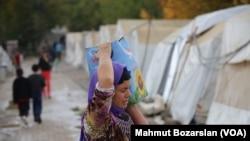 Campamento de refugiados yazidis en Turquía.
