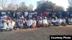 Part of the crowd that attended the Itai Dzamara prayer rally. (Photo: Courtesy Occupy Africa Unity Square)
