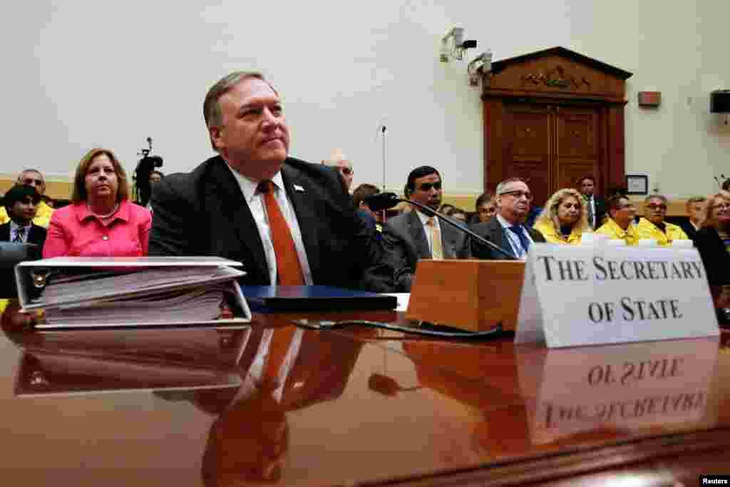 نشست کمیته امور خارجی مجلس نمایندگان آمریکا؛ جلسه بررسی اولویتها و بودجه وزارت خارجه با حضور مایک پمپئو