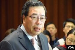 香港立法會主席梁君彥。(美國之音特約記者湯惠芸攝)
