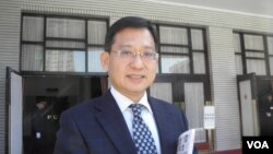 国民党立委吴育升1月15日在立法院(美国之音申华拍摄)
