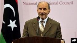 ທ່ານ Mustafa Abdel Jalil, ປະທານສະພາປົກຄອງໄລຍະຂ້າມ ຜ່ານລີເບຍ. ວັນທີ 13 ກັນຍາ 2011.