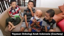 Anak-anak yang sedang menjalani perawatan kanker tinggal sementara di rumah singgah Yayasan Onkologi Anak Indonesia, September 2019. (Foto: Yayasan Onkologi Anak Indonesia)