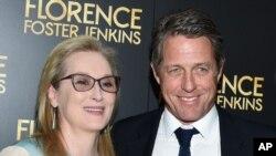 """هیو گرانت و مریل استریپ در مراسم اکران فیلم """"فلارنس فاستر جنکینز"""" در نیویورک"""