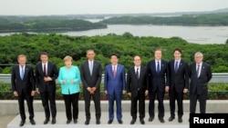 在日本三重縣伊勢志摩召開的七國集團峰會