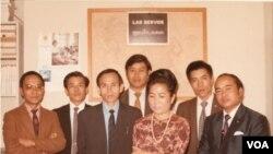 ທີມງານຂອງວີໂອເອ ພະແນກພາສາລາວ ປີ 1971