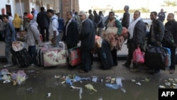 Беженцы на ливийско-тунисской границе.