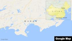 Wukan, China, map