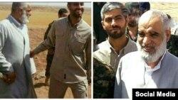 آیتالله کعبی، نماینده خوزستان در مجلس خبرگان در کنار نادر حمید، یکی از کشته شدههای سپاه. گفته میشود او نیز در سوریه حضور دارد