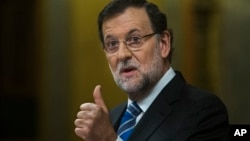 FILE - Spain's Prime Minister Mariano Rajoy