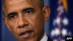 奥巴马在白宫谈论美国的中东政策