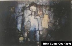 """Bức tranh """"Mùa Thu Tuổi Nhỏ"""" năm 1962 của Trịnh Cung"""
