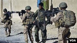 Para marinir AS di Afghanistan harus bersiap menghadapi peningkatan serangan pemberontak Taliban.