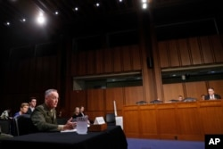 "Joint Chiefs Chairman Marine Corps Gen. Joseph Dunford said he's not seen any shifts in North Korea's military posture despite the reclusive nation's threats to shoot down U.S. warplanes amid the ""charged political environment"" between Washington and Pyongyang."