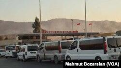 تصویر آرشیوی از گذرگاه مرزی خابور، بین ترکیه و عراق