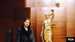 Fildes Hafizi, juge abattue le 31 août 2017 en plein jour dans une rue de Tirana, en Albanie, par son ex-mari.