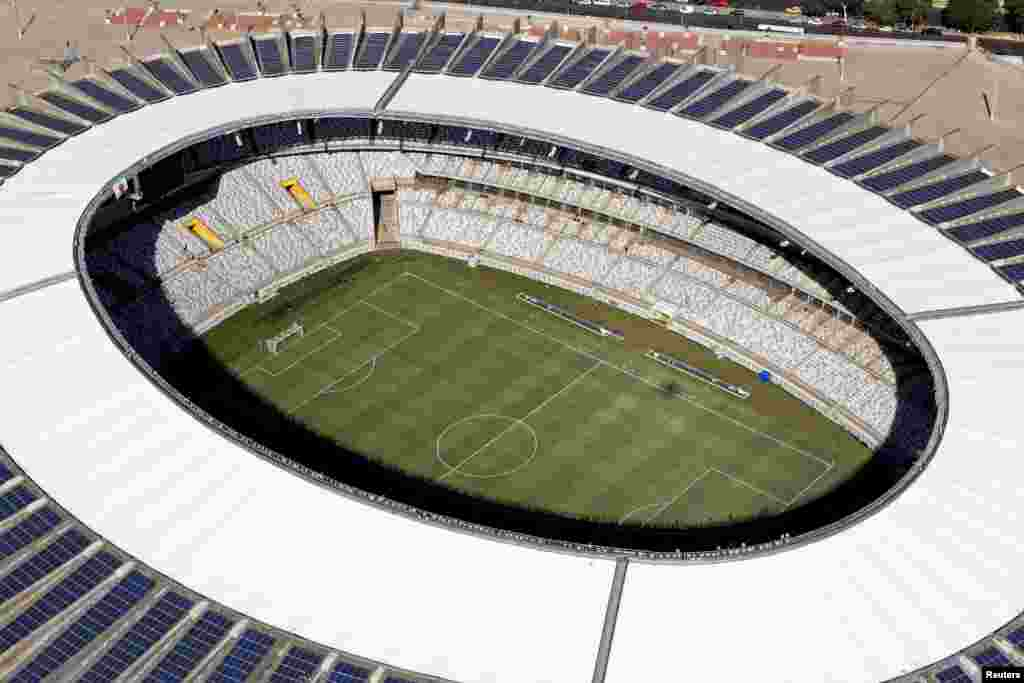 Vista área do Estádio Mineirão, um dos estádios que vai receber os jogos do Mundial de Futebol em Belo Horizonte. Abril 10, 2014. REUTERS/Washington Alves