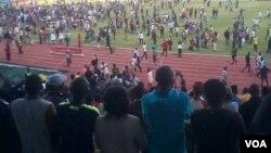 Bayajanquka abalandeli beqembu leWarriors elinqobe ele Zambia kwele South Africa kumdlalo weCOSAFA Castle Cup.