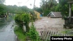 Ribuan rumah terendam banjir di Kota Bima, Kabupaten Bima dan Kabupaten Sumbawa Provinsi Nusa Tenggara Barat, Rabu 21 Desember 2016. (Foto: Humas BNPB)