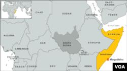 Lokasi wilayah Beled Hawo dan Mogadishu.