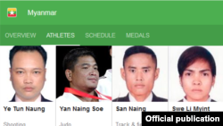 San Naing and Swe Li Myint- Rio Olympic Myanmar Team