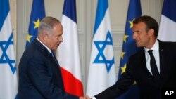 Benjamin Netanyahu i Emmanuel Macron: Poziv na smirivanje situacije