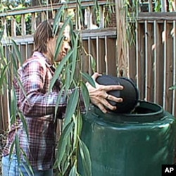 Washington, DC resident Ingrid Drake composts all year long - both in the backyard and in her basement.