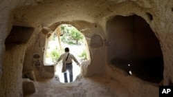 A winery dating back to the third century,carved into a cave in Urgup in central Anatolia, Turkey (File Photo)