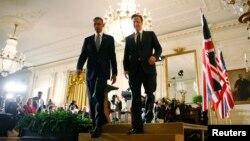 El presidente Obama y el primer ministro del Reino Unido, David Cameron ofrecieron una conferencia de prensa luego de su reunión privada.