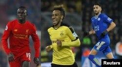 Bitaa gara mirgaa: Taphataa Aljeeriyaa Riyad Mahrez (Leicester), ka Senegaal Sadio Mane (Liverpool) fi ka Gaabon Pierre-Emerick (Dortmund).