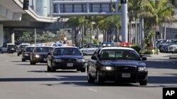Xe cảnh sát ở Phi trường Quốc tế Los Angeles (ảnh tư liệu).
