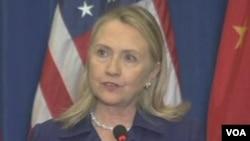 美国国务卿克林顿(视频截图)