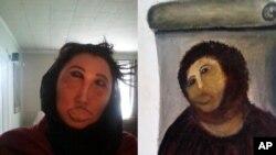 Disfraz de la imagen de la restauración fallida de Cristo se ha hecho popular a través de las redes sociales.
