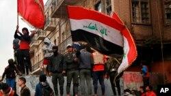 Manifestations à Bagdad en Irak le 3 décembre 2019.