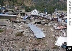 زلزلے کی تباہی کا ایک منظر