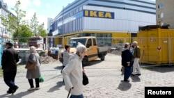 Toko IKEA di Hamburg, Jerman.