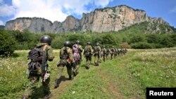 Pripadnici specijalne jedinice ruske vojske tokom obuke u oblasti Severnog Kavkaza